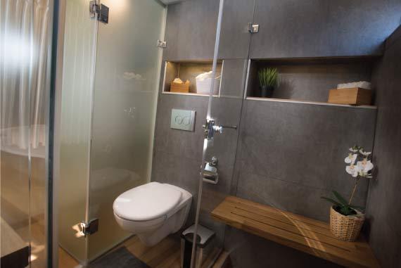 חדר רחצה ושירותים מעוצב